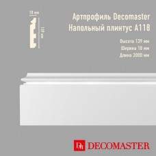 Плинтус Decomaster Артпрофиль A118