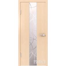 Двери Владимирские Токио Зеркало 1 беленый дуб