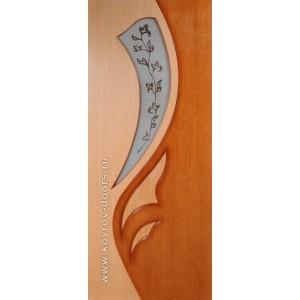 Двери Ковров Лилия 2 ПО дуб,орех