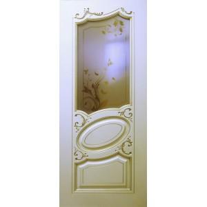 Двери Ковров Маркиз ПО слоновая кость,золото