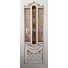 Двери Ковров Александрия 2 ПО слоновая кость,золото
