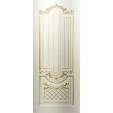 Двери Ковров Александрия 2 ПГ слоновая кость,золото