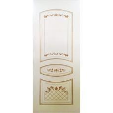 Двери Ковров Алина 2 ПГ слоновая кость,золото