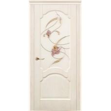 Двери Дариано Барселона витраж Орхидея ясень карамель
