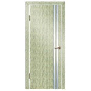 Дверь Lacobel 506 серый дуб