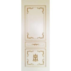 Двери Ковров Вена 2.1 ПГ белая эмаль,золото