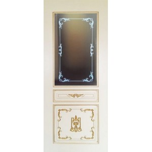 Двери Ковров Вена 2.1 ПО белая эмаль,золото